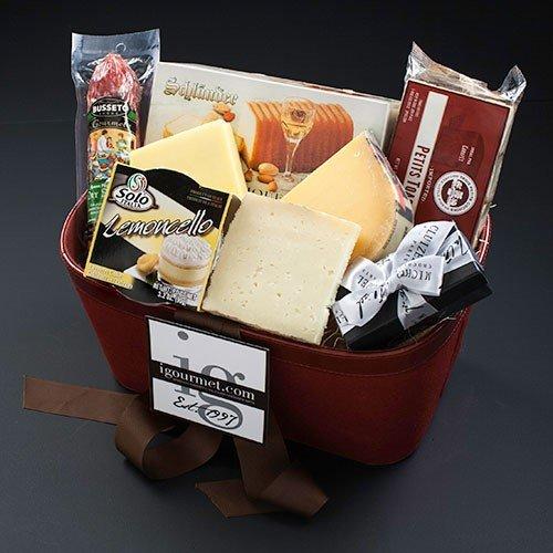 [Happy Gourmet Birthday Gift Basket (3.5 pound)] (Black Kassel Salami)