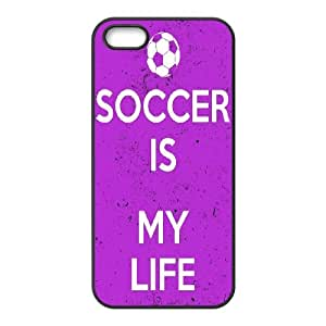 [H-DIY CASE] For Apple Iphone 5 5S -Love Football-CASE-9