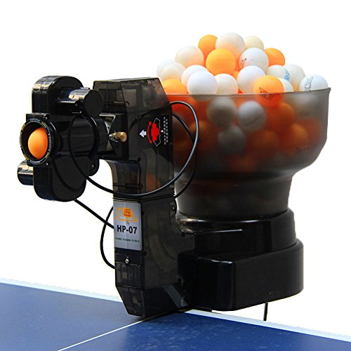 HUI PANG-07 Table Tennis Robot, Serves 36 Different Spin Balls, Automatic Table Tennis Machine for Training