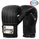Bag mitts, punch mitts,boxing training gear, mma muay thai boxing bag mitts (Black, Large)