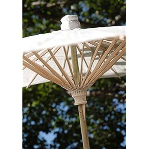 Way Home Fair Parasol White Scalloped Edge 32in 30