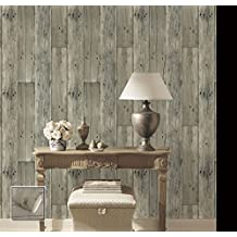 Salvaged Distressed Rustic Antique Wood Wallpaper home improvement for living room, kitchen, den, family room, bedroom and bathroom 54 sq ft. (Yankee Doodle)