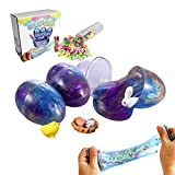 ESSENSON Easter Eggs Soft Slime Packs Scented Stress Relief Toy Galaxy Slime for Boys Girls Easter Gifts Easter Basket Stuffers Fillers Stretchy and Non-Sticky Filled with Rabbit, Chick, Surprise Eggs