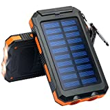 Solar Charger, Frolk Solar Power Bank 10000mAh. Waterproof...