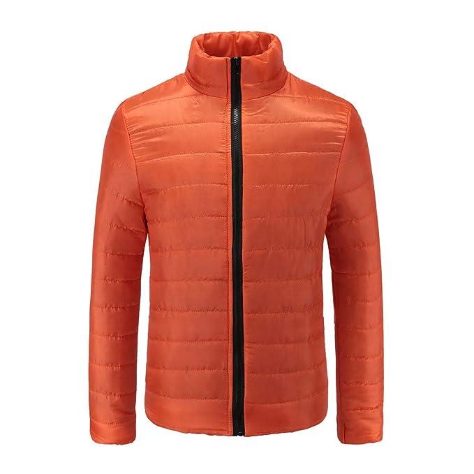 Leggero Inverno Caldo Zip Jacket Cappotto Manica Lunga Del