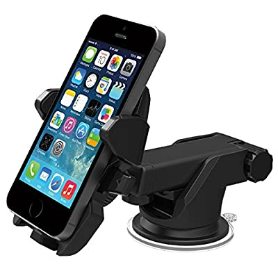 iOttie Easy One Touch 2 Car Mount Holder Cradle for iPhone 5s/5c/4s, Samsung Galaxy S5/S4/S3, Note 3/2, Google Nexus 5/4 LG G3 - Retail Packaging - Black
