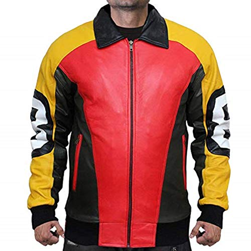 RF Leathers Puddy's Patrick 8 Ball Faux Leather Jacket - (4XLarge Jacket Chest 56