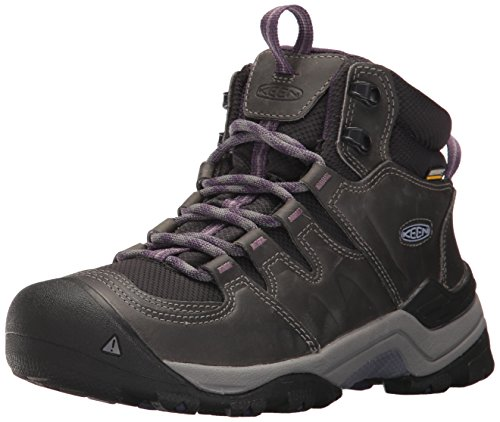 KEEN Women's Gypsum II Mid WP-W Hiking Boot, Earl Grey/Purple Plumeria, 8.5 M US by KEEN