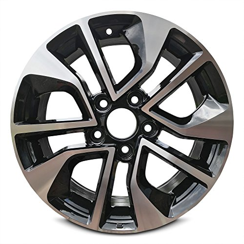 Road Ready Car Wheel For 2013 2015 Honda Civic 16 Black Machine Aluminum Rim Fits R16 Tire Exact Oem Replacement Full Size Spare