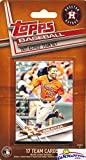 Houston Astros 2017 Topps Baseball EXCLUSIVE Special Limited Edition 17 Card Complete Team Set with Jose Altuve, Carlos Correa & Many More Stars & Rookies! Shipped in Bubble Mailer! WOWZZER!