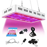ARKNOAH 1500W High Power LED Grow Light 8 Bands Full Spectrum Color Ratio Indoor Plants Veg Flowering in Greenhouse Hydroponics (White)