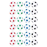 Truscope Sports Foosball Table Soccer Replacement Balls - 36mm - (24 Pack, Multi Color)