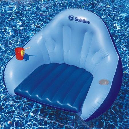 Solstice Inflatable, Durable, Fun, Efficient, Solo Easy Chair Convertible Style Float for Outdoor, Swimming Pools