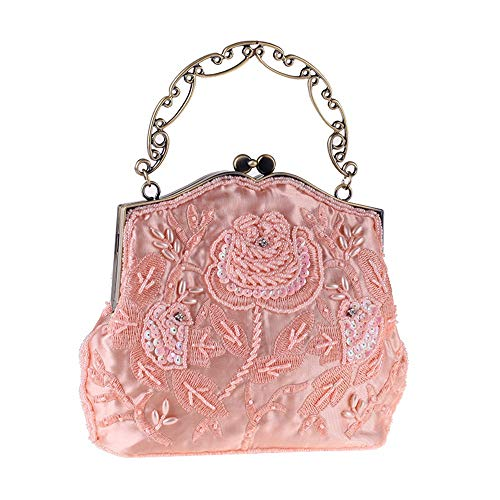 da con in Colore vintage frizione da borsa rilievo Yzibei da sera pratico donna borsa sposa Nero Rosa donna Borsa da sposa da w4760