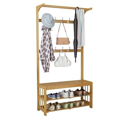 Perchero Percha Percha Simple Dormitorio bambú Percha de ...