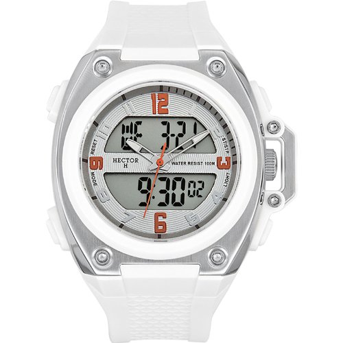 ca74443c3f74 Hector H 665229 - Reloj analógico y digital de cuarzo para hombre con  correa de plástico