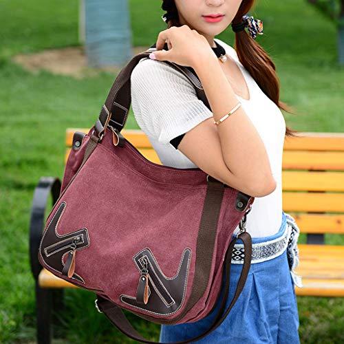 Con Stampa Da Casual Moda Borse Chengyi Borsa Tracolla A Donna Blu Mano Di cITqtgR
