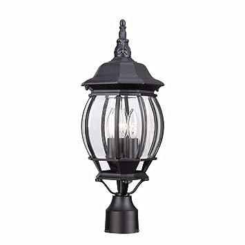Hampton Bay Hb7029 05 3 Light Black Outdoor Lamp Amazoncom