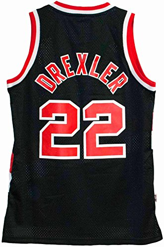 Adidas Men's Portland Trail Blazers NBA Clyde Drexler Swingman Jersey Black Medium (Swingman Portland Trailblazers Jersey)