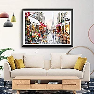 Puzzles for Adults Jigsaw Puzzles 1000 Pieces for Adults Kids– Paris Flower Street Landscape Jigsaw Puzzle Artwork Intellective Educational Toy: Toys & Games