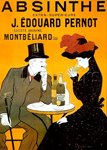 Absinthe Pernot Vintage French Liquor, Bar Poster Reproduction by Leonetto Cappiello (17.5