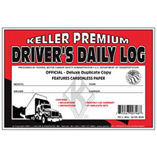 Log Duplicate Drivers Carbonless Daily (J.J. Keller - Duplicate Driver's Daily Log Book, Carbonless, Pack of 12)