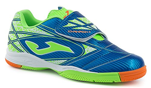JOMA CALCETTO CHAMPION JR 605 ROYAL-GREEN FLUOR INDOOR 38