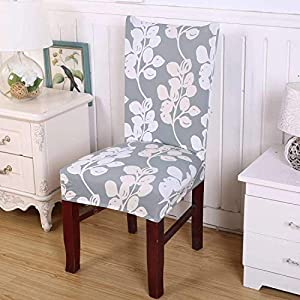 Elastic Chair Cover with Stretch, Removable and Washable