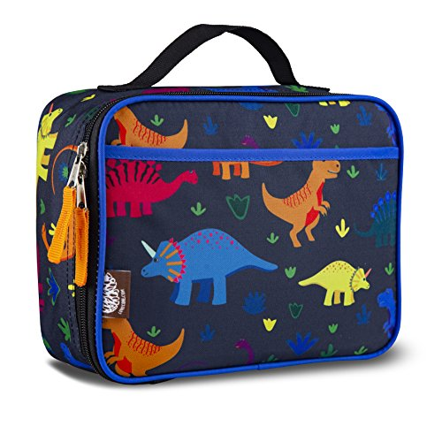 LONECONE Kids Insulated Lunch Box - Cute Patterns for Boys and Girls, Fossil Fuel, Standard
