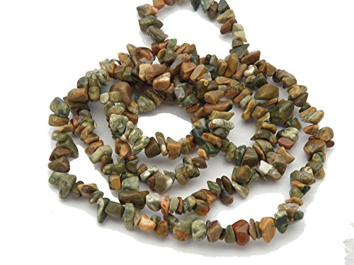 Fundamental Rockhound Products: Rainforest Jasper Chip Beads 35