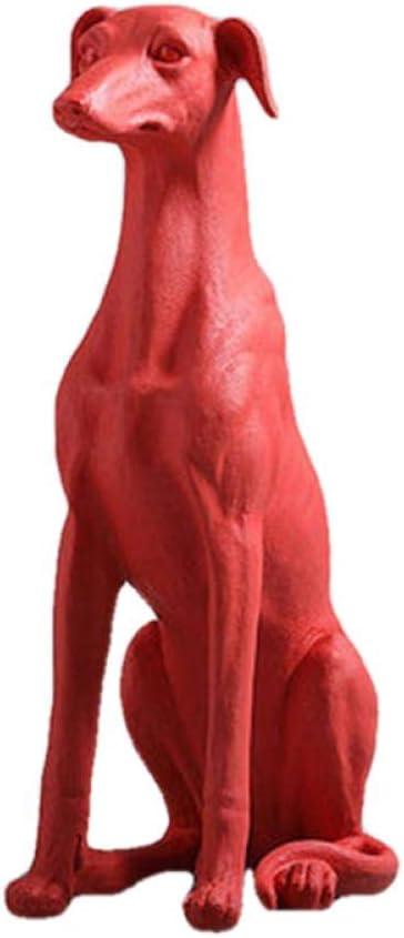 QIBAJIU Estatuas para Jardín Regalo Estatua 74 Cm Estatuillas De Galgos Mascota Perro Estatua Resina AnimalDecoración del Hogar Accesorio