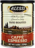 Alessi Espresso Ground Coffee, 8.8-Ounce Cans (Pack of 12)
