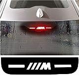 bmw m power - Car High Brake Light Stickers M Performance Rear Stop Brake Lamp Light Decals Veneer Car High Mounted Decorative Emblems Car Mount Interior Stickers for BMW M Logo 3 5 7 Series (for BMW 3 Series)