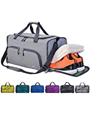 c2af19e655e29c CoCoMall Foldable Sports Gym Bag with Shoes Compartment & Wet Pocket, 45L  Travel Duffel Bag