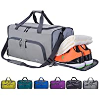 FANCYOUT Sports Gym Bag with Shoes Compartment & Wet...