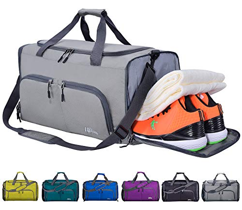FANCYOUT Sports Gym Bag with Shoes Compartment & Wet Pocket, Travel Duffel Bag for Men and Women from FANCYOUT