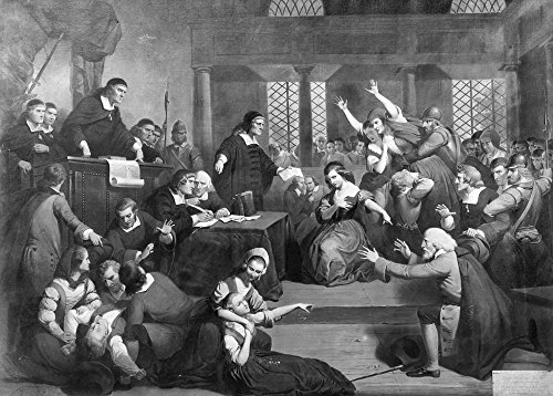 Salem Witch Trials 1692 NThe Trial Of George Jacobs At Salem For Witchcraft Oil On Canvas By Tompkins Harrison Matteson (1813-1884) Poster Print by (18 x 24) ()