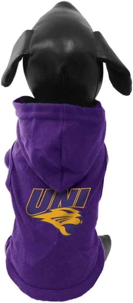 NCAA Northern Iowa Panthers Cotton Lycra Hooded Dog Shirt