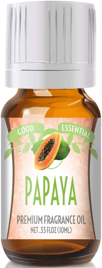 Papaya Scented Oil by Good Essential (Premium Grade Fragrance Oil) - Perfect for Aromatherapy, Soaps, Candles, Slime, Lotions, and More!