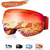 18194a18865d XOOYKI Ski Snowboard Goggles Winter Sports Eyewear Dual Lens Anti-Fog OTG  UV Protection Replaceable