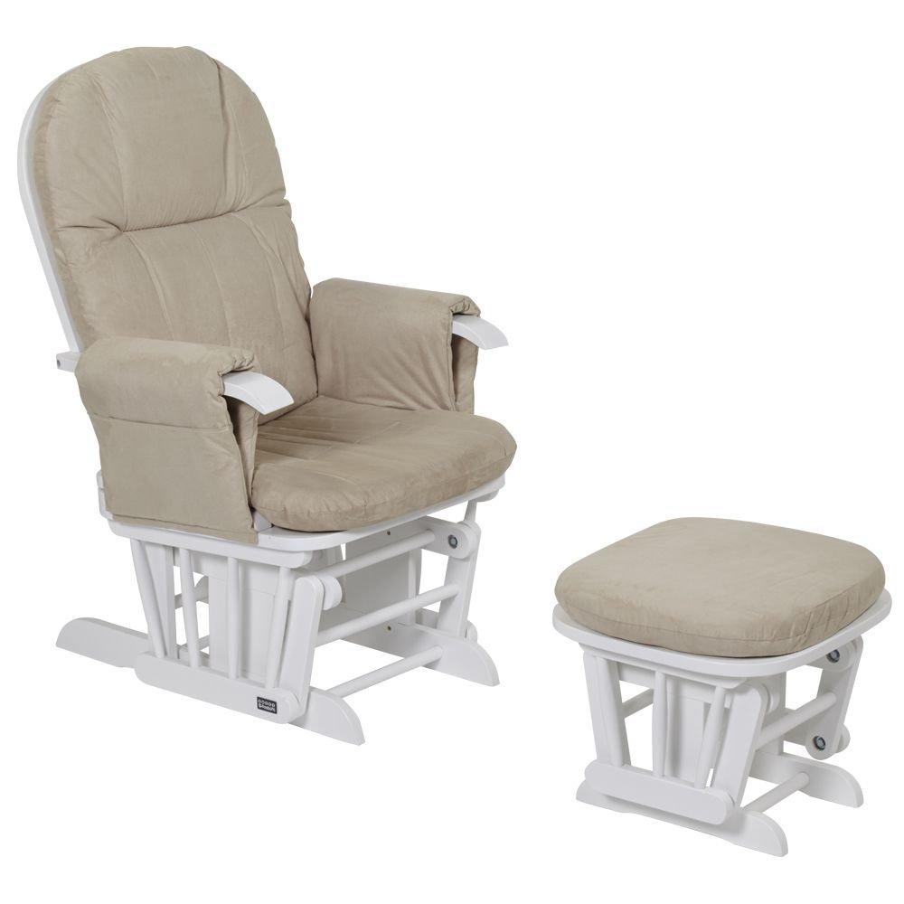 Tutti Bambini GC35 Deluxe Glider Chair U0026 Stool, White: Amazon.co.uk: Baby