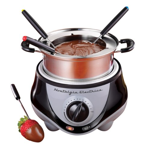 Nostalgia Electrics FPR200 Fondue Pot, Stainless Steel