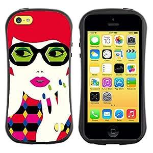 "Hypernova Slim Fit Dual Barniz Protector Caso Case Funda Para Apple iPhone 5C [Gafas Redhead""]"