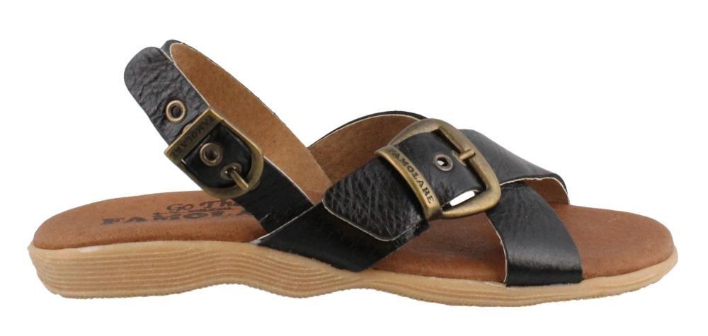 FAMOLARE Women's, Summer Daze Sandals Black 10 M