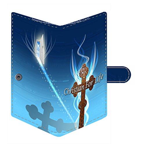 Shopmania Jesus Cross Canvas Printed Women's Wallet, Card organizer, Passport Holder, Clutch, Purse ()