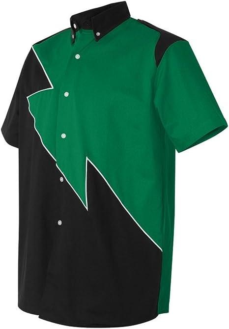 Hilton Alerón Retro camisa de bolos para hombre (tamaño mediano, verde): Amazon.es: Deportes y aire libre