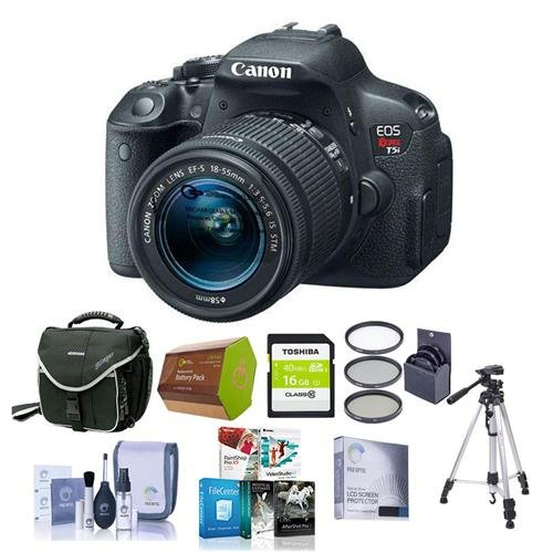 Canon EOS Rebel T5I DSLR Camera Bundle.USA. Value Kit with Accessories #8595B003