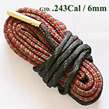 Ownsig Necessary Rifle Cleaning Cleaner Rope Kit Caliber Bore Snake For Hunting G10:243 Cal & 6mm