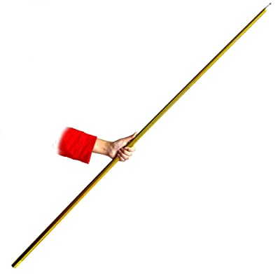 """Blue-ther 59"""" Metal Appearing Cane Magic Wand Professional Magician Stage Close-up Magic Trick Magic Accessories (Golden): Toys & Games"""