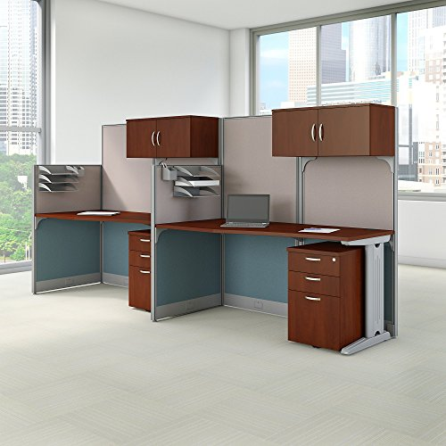 Bush Business Furniture Office in an Hour 65W x 33D Cubicle Workstation in Hansen Cherry by Bush Business Furniture (Image #6)